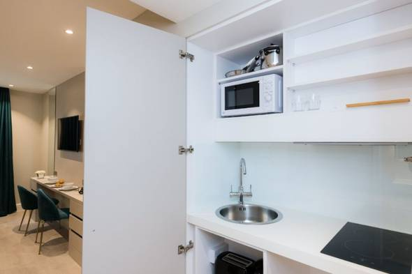 Full equipped kitchenette nox hotels | notting hill london